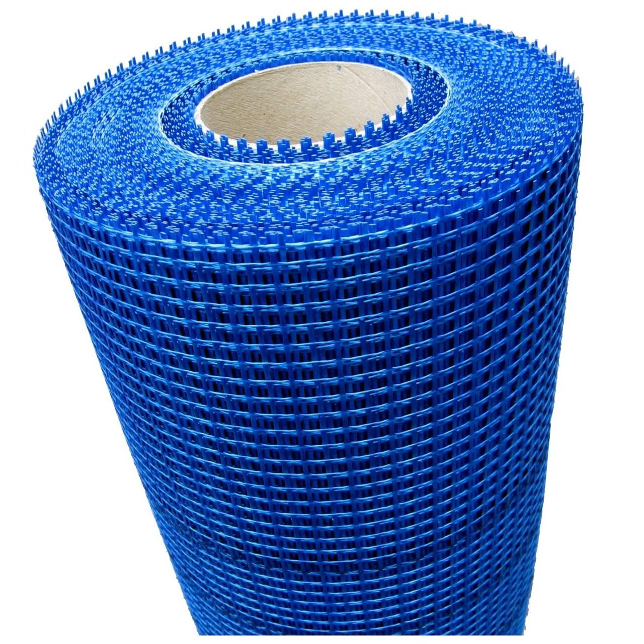Aussenputzgewebe 13 x 13 blau / Rolle 4 x 0,25 x 100 m / Pal a 12 Rollen