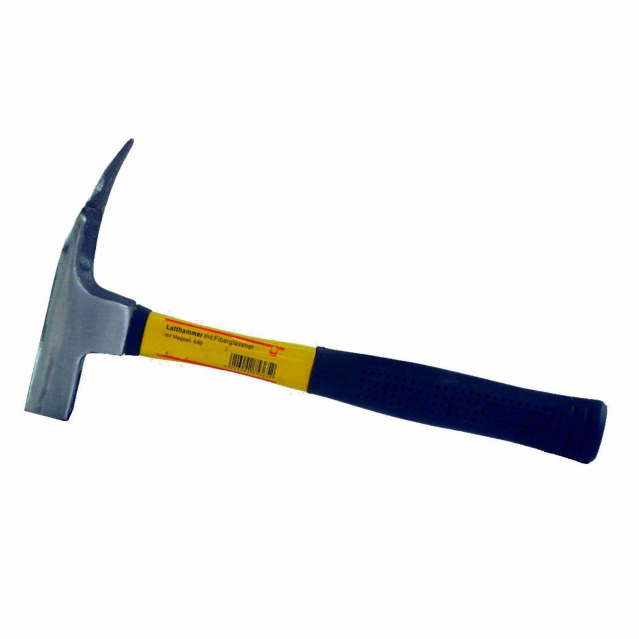 Latthammer mit Magnet, Fiberglasstiel