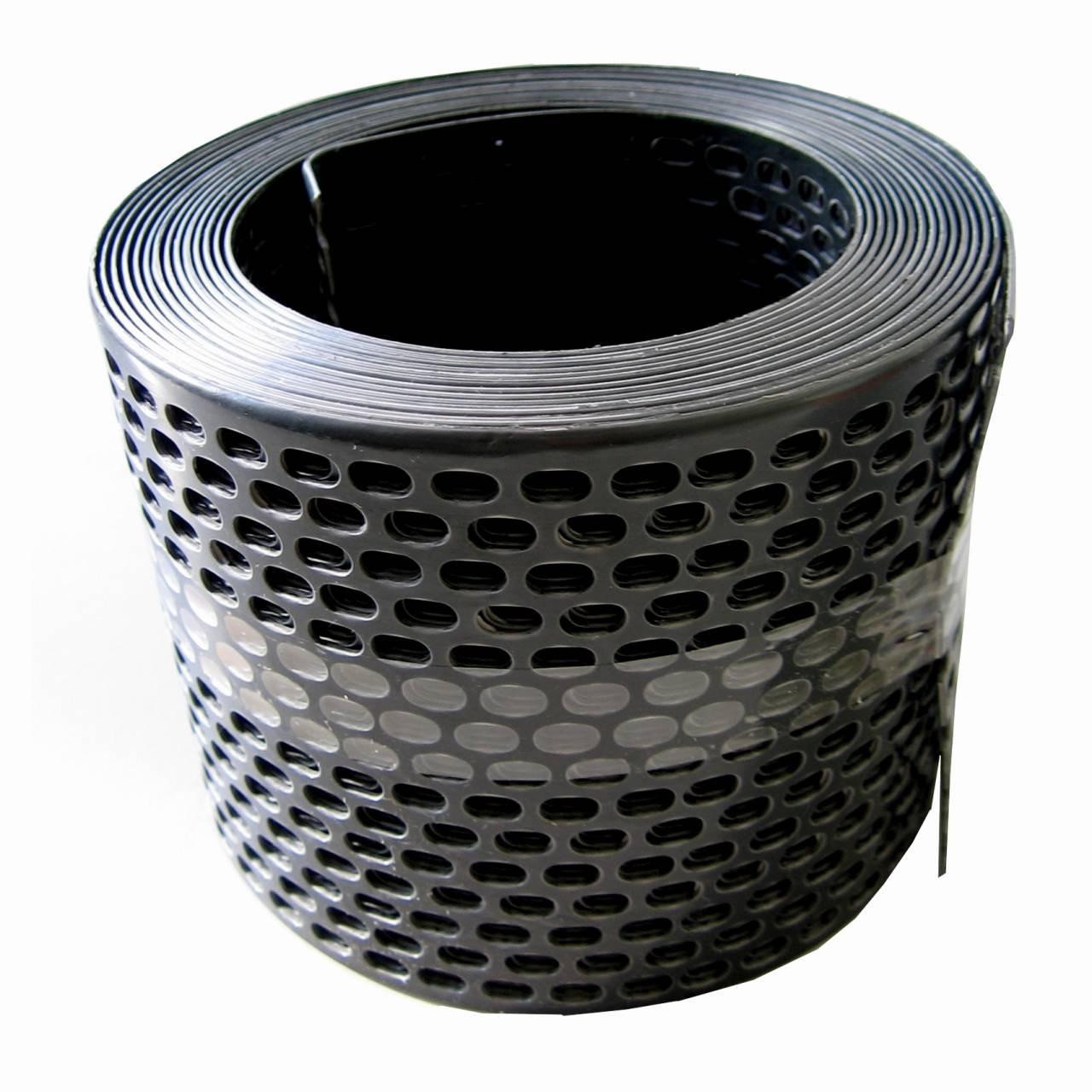 Traufgitter 150 mm schwarz / Rolle a 5 lfm