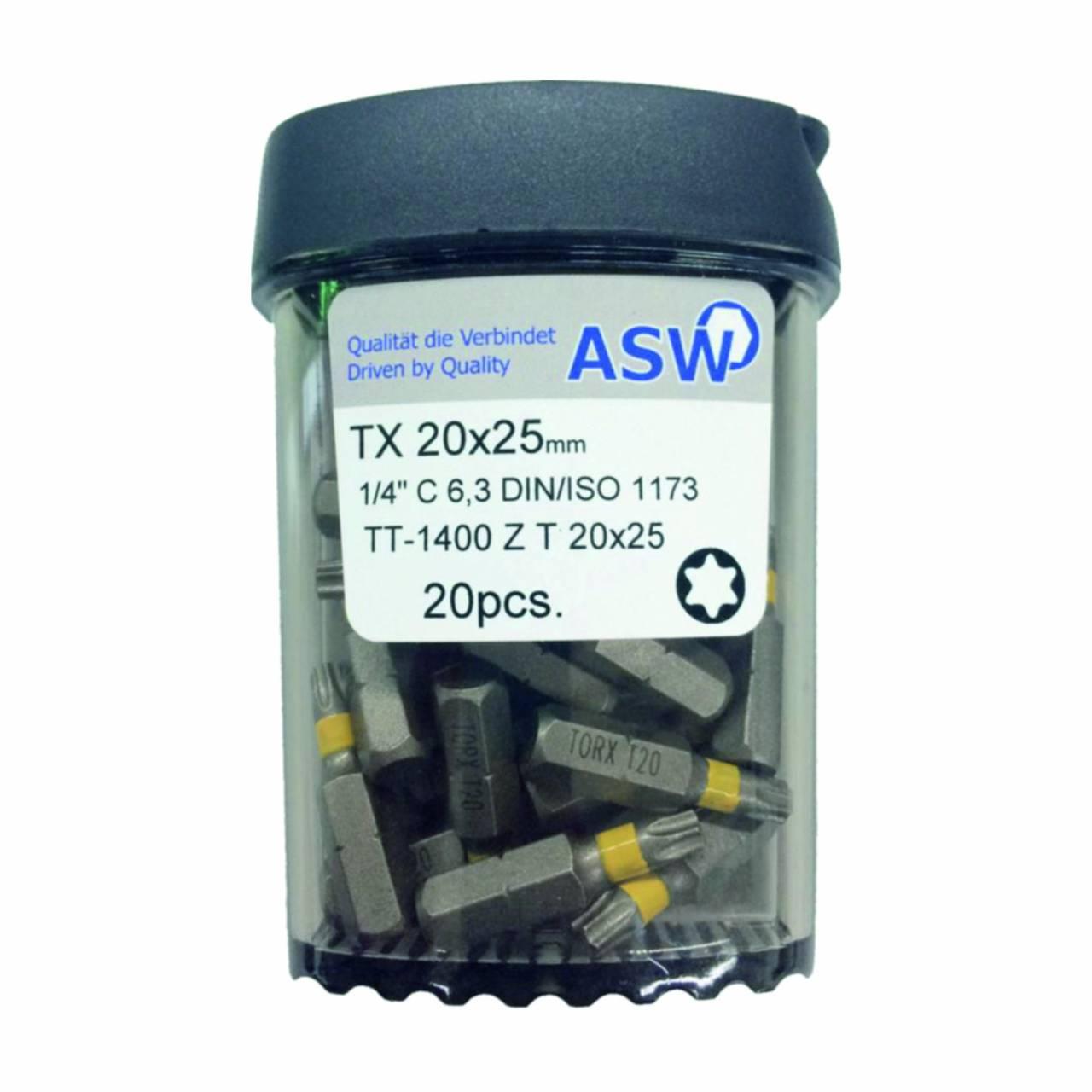 Schraubklingen / Bitbox 'ASW' TX-25 / Dose a 20 Stück