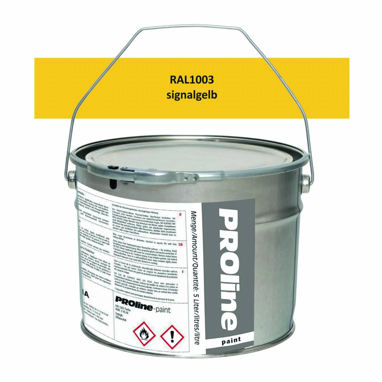 Antirutsch-Markierfarbe 'PROline-paint' GELB / Eimer a 5,0 Liter