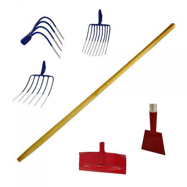 Gerätestiel 130 cm, für Steinkratzer, Stein-, Spatengabel, Stoßscharren