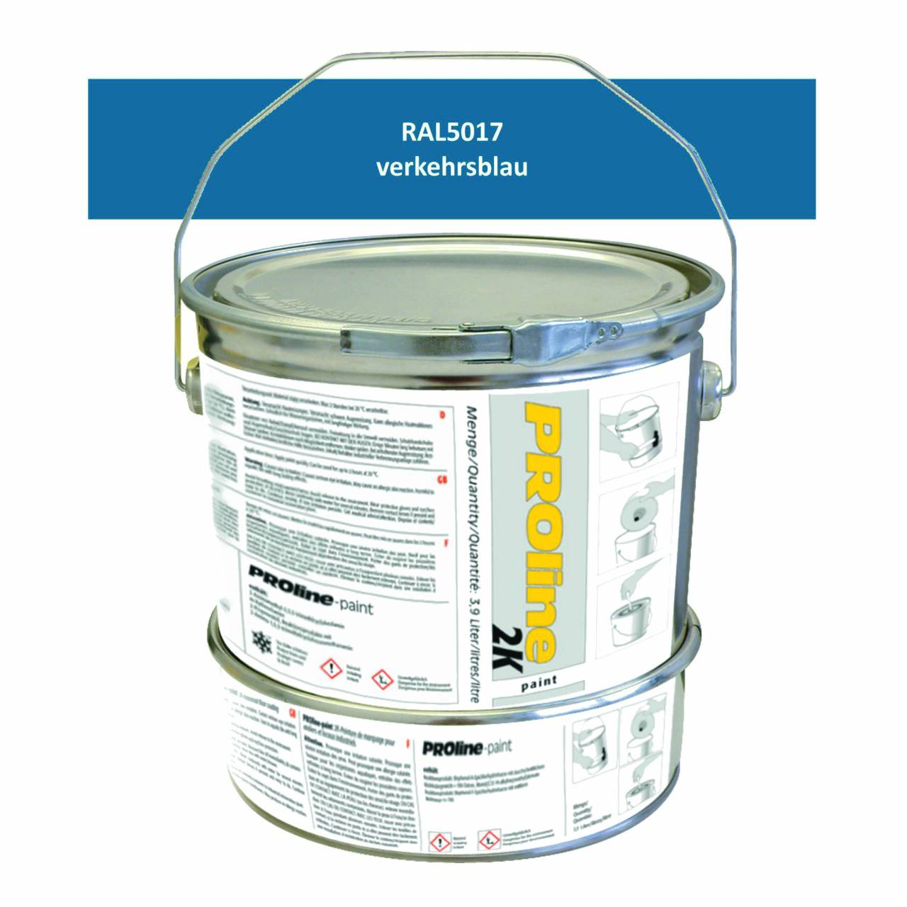 Hallen-Markierfarbe 2K 'PROline-paint' BLAU / Gebinde a 5,0 Liter