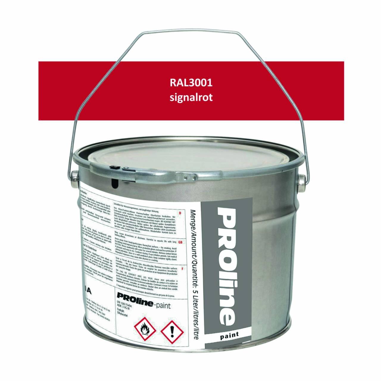 Aussen-Markierfarbe 'PROline-paint' ROT / Eimer a 5,0 Liter