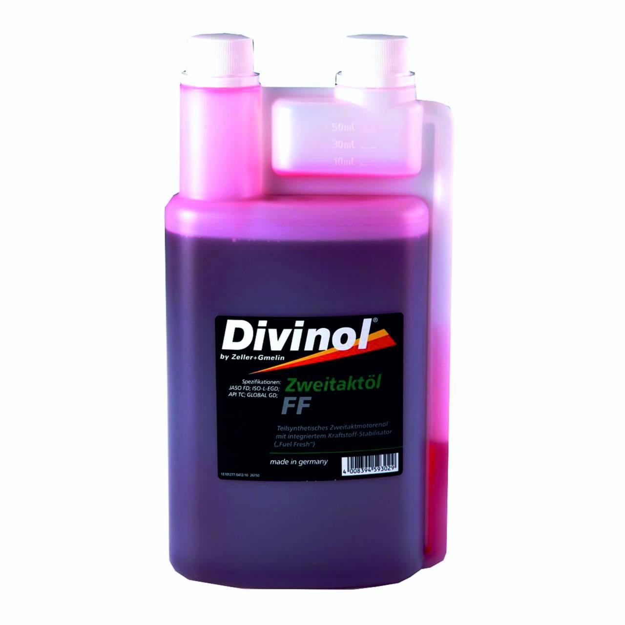 Zweitaktöl 'Divinol' FF / 1,0 Liter Dosierflasche