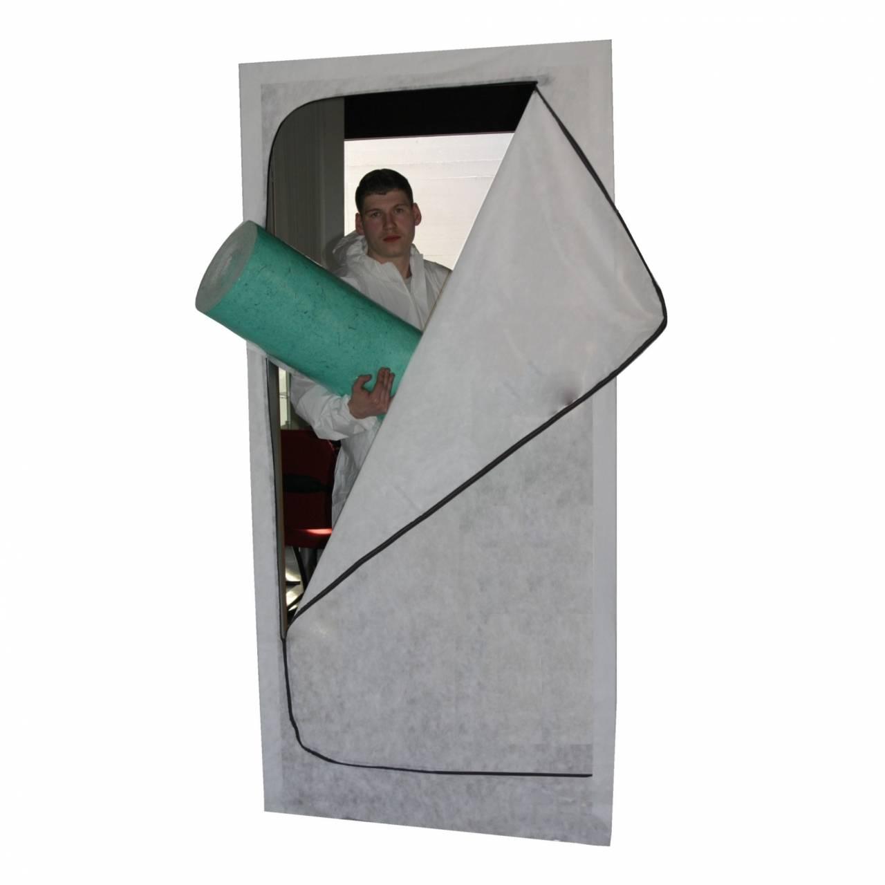 Staubschutztüre 110 x 220 cm, mit 2-Zip-Reißverschluss