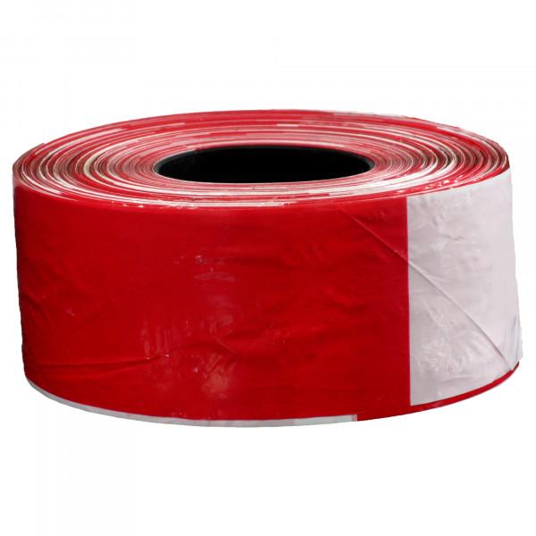 Absperrband rot-weiss / Rolle 80 mm x 500 m