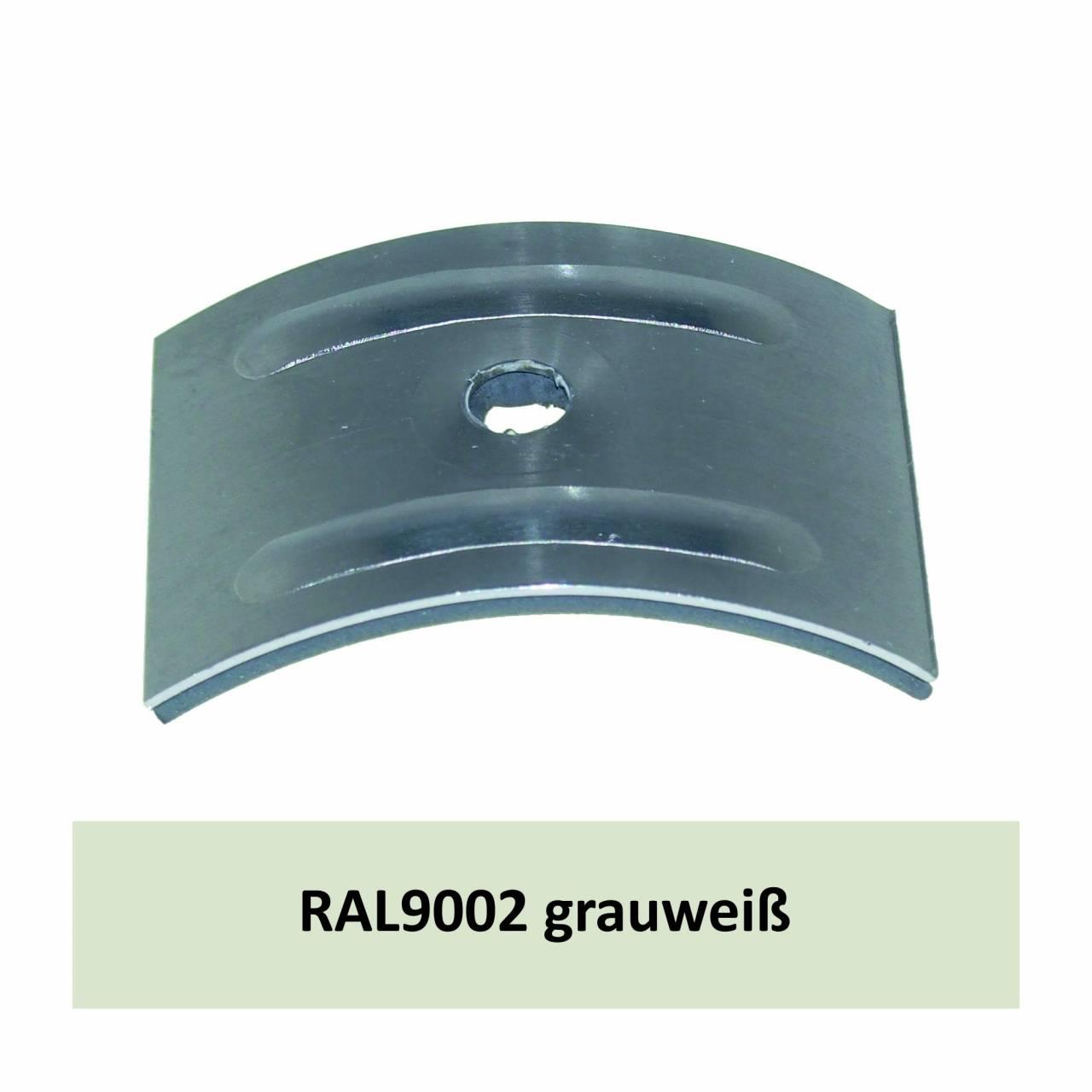 Kalotten für Welle 177/51, Alu RAL9002 grauweiß / Pck a 100 Stück