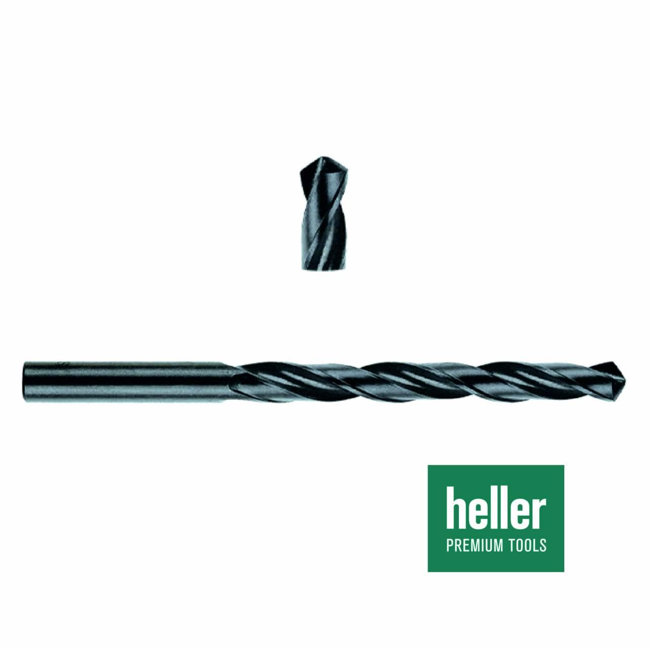 Stahlbohrer HSS-R 'Heller®' Ø 1 x 12 x 34 mm / Pck a 3 Stück