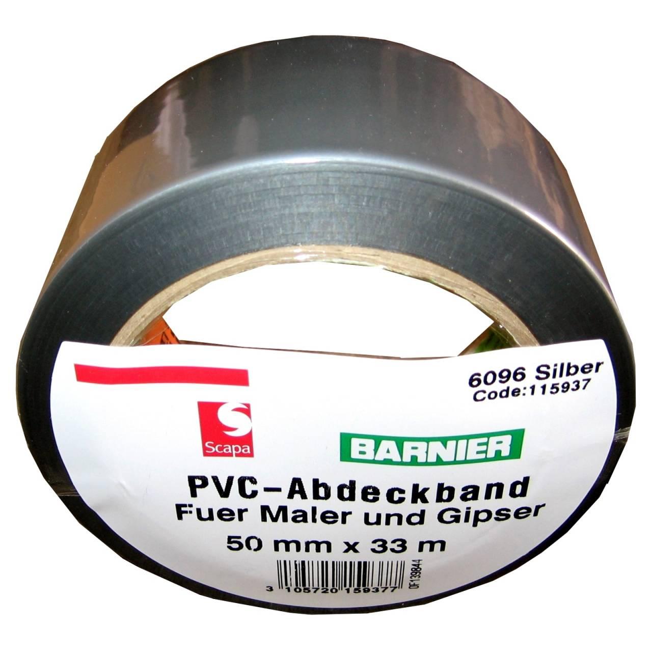 Barnier® 6096 PVC-Band 50 mm x 33 m silber / Rolle