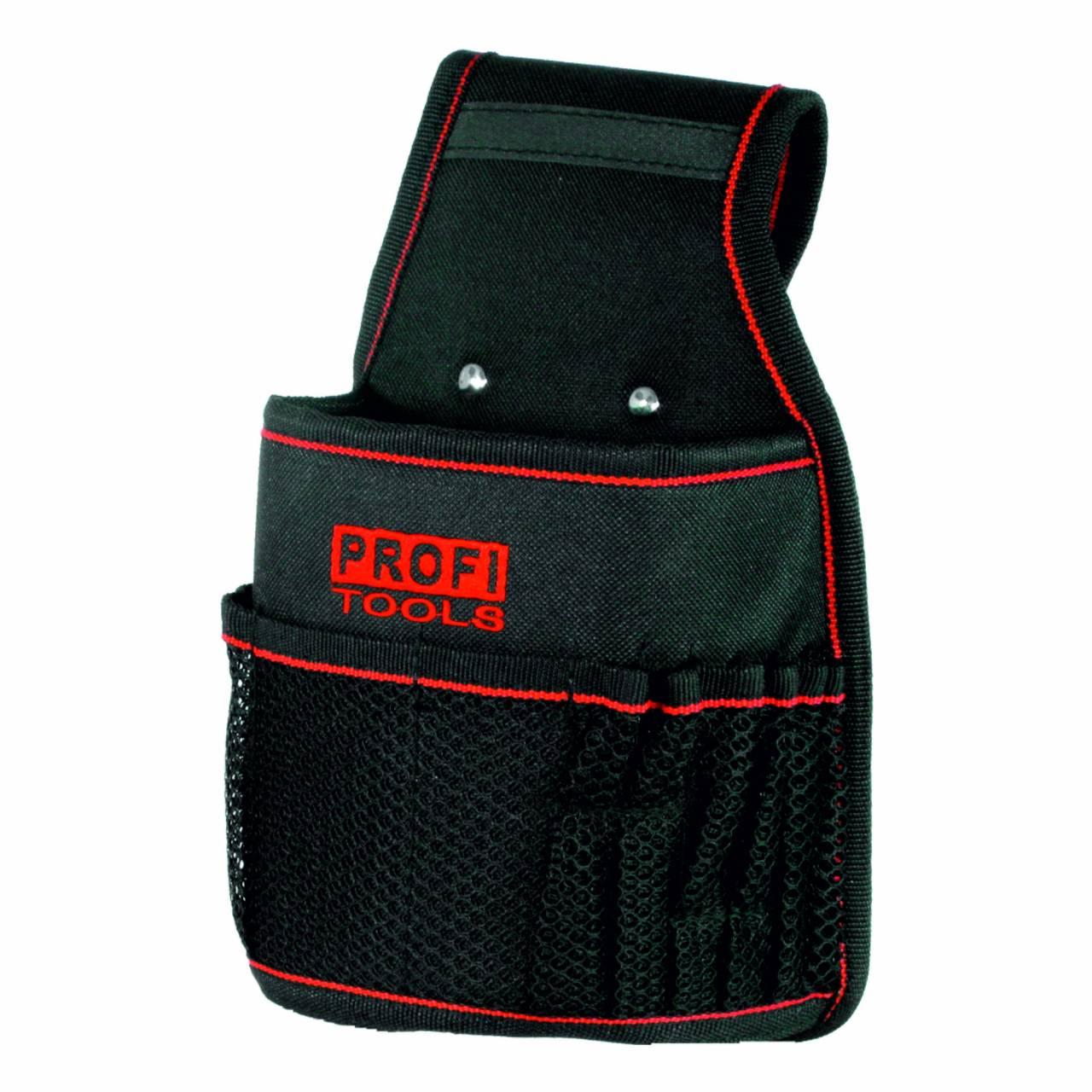 Nagel- / Werkzeugtasche, Polyester, schwarz, 3 Fächer, 1 Schlaufe