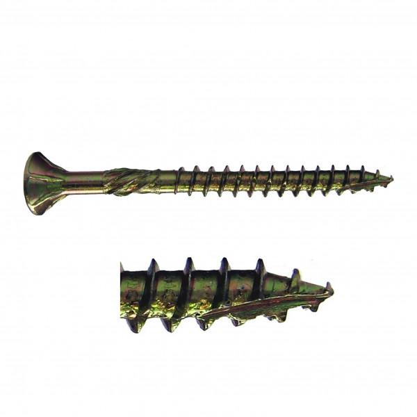 Holz-Frässchraube vz Seko 6,0 x 70 mm / Pck a 200 Stück
