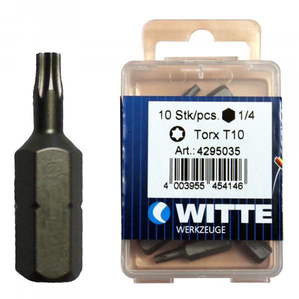 Schraubklinge / Bit 'Witte' TX-10 / Pck a 10 Stück