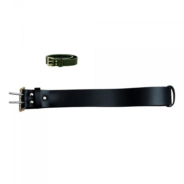 Ledergürtel 125 cm x 38 mm, schwarz