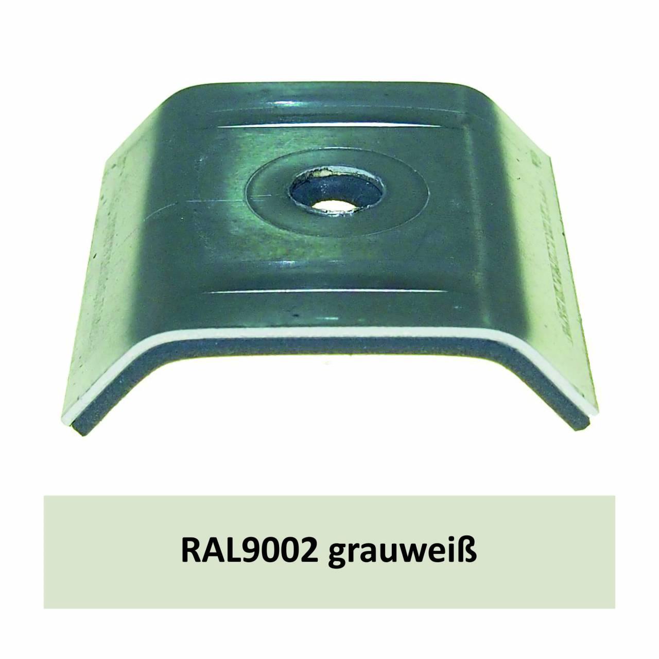 Kalotten für 39/333, Alu RAL9002 grauweiß / Pck a 100 Stück