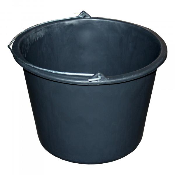 Bau-Eimer 20,0 l, Ø 35,5 cm, 'Jopa', schwarz, Skalierung, leicht