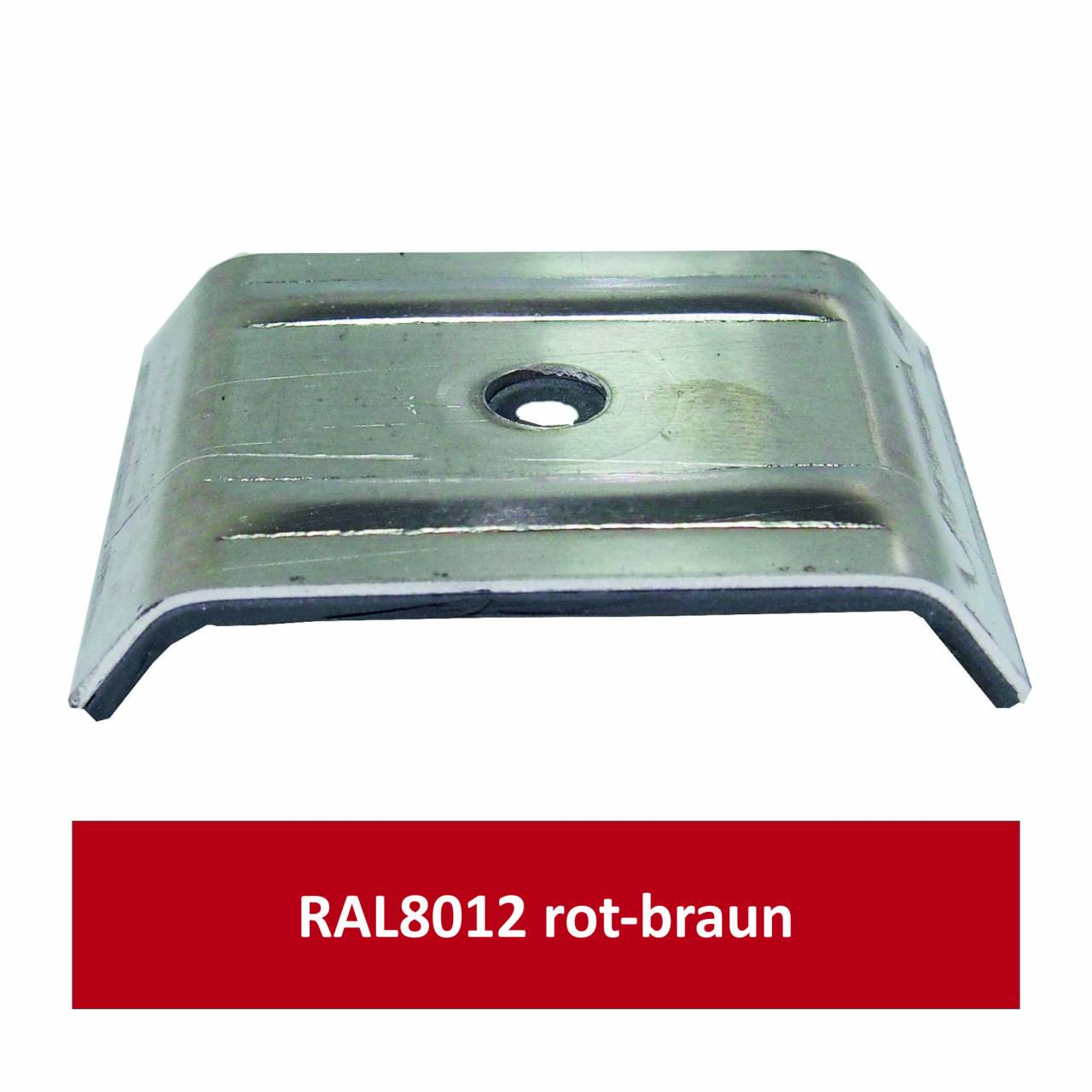 Kalotten für 35/207, Alu RAL8012 rotbraun/ Pck a 100 Stück