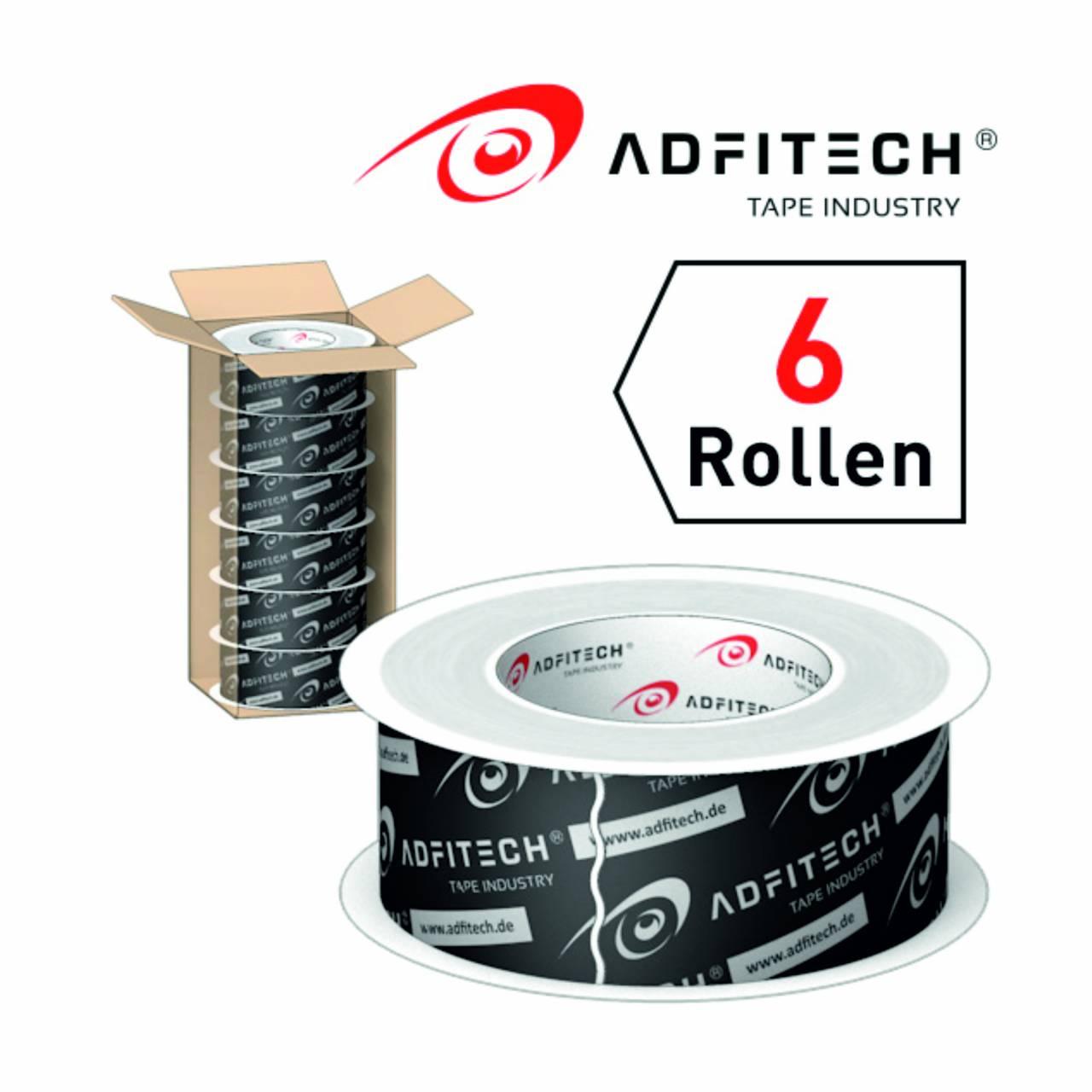Adfitech Dichtklebeband 'AT225' 60 mm x 25 lfm / Krt a 6 Rollen