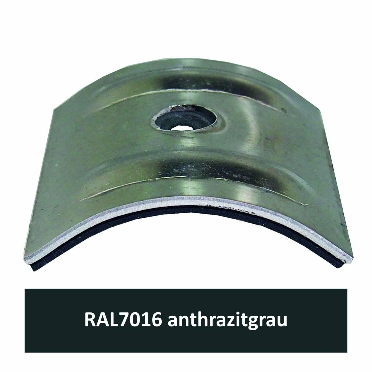 Kalotten für Welle 18/76, Alu RAL7016 anthrazitgrau / Pck a 100 Stück