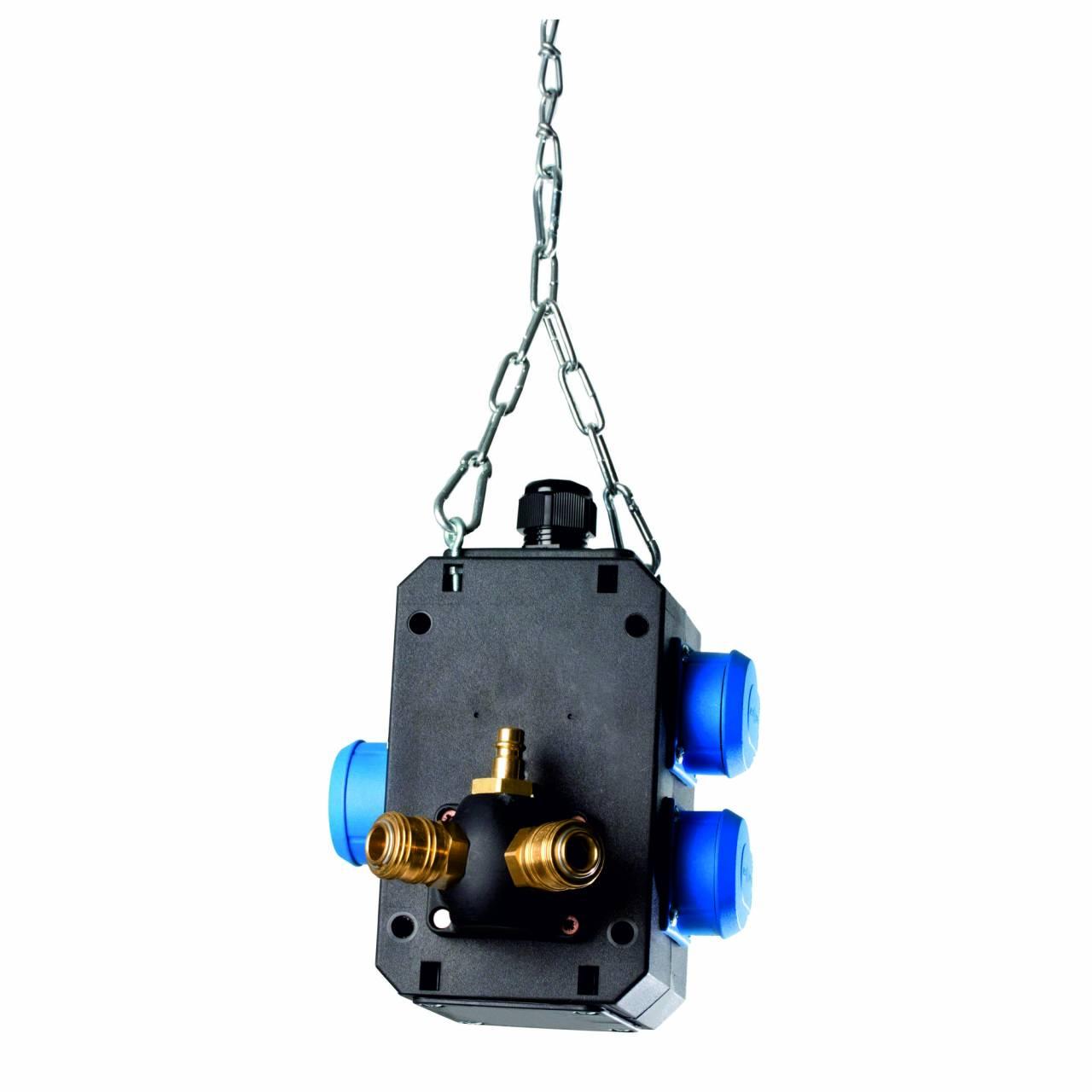 Energiewürfel: 3 x Schuko-Dosen 230V / 16A + Druckluftanschluss